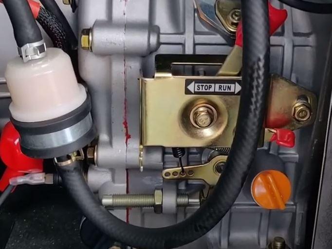 Zona de controlador de velocidad dentro del generador